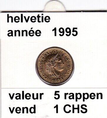 S 1 ) pieces suisse de 5 rappen   1995  voir description