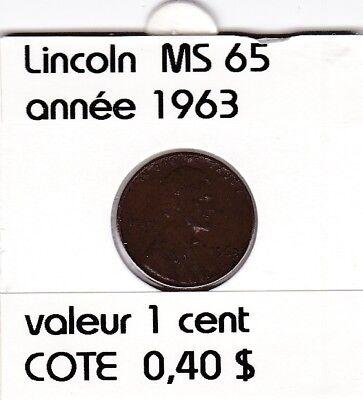 e2 )pieces de 1 cent  1963     lincoln