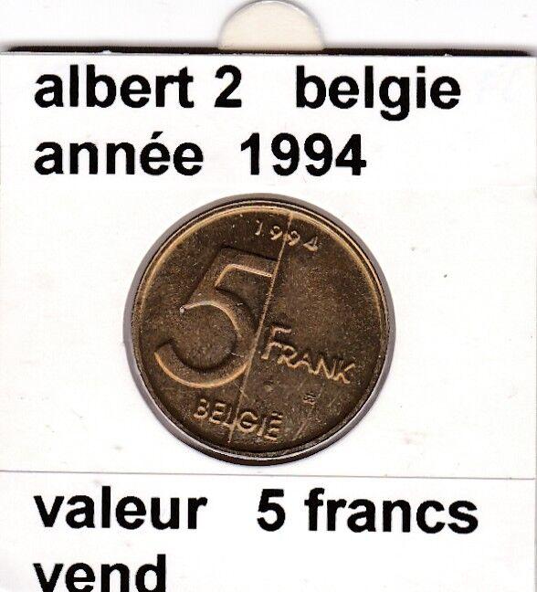 FB )pieces de albert 2  5 francs 1994  belgie