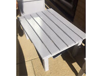 Painted wooden table- shabby chic finish