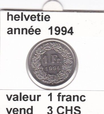 S 2) pieces suisse de 1 franc de 1994 &     voir description
