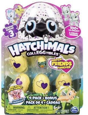 Hatchimals Colleggtibles Season3 4Pack Bonus Surprise Eggs Twins Rhythm Rainbow