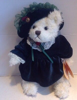 """BRASS BUTTON BEAR COLLECTABLES 1997 BIANCA BEAR OF LOVE 11"""" FULLY JOINTED  NWT"""