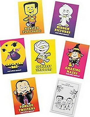 Pack of 12 - Mini Halloween Fun And Games Activity Books - Party Bag - Halloween Activities And Games