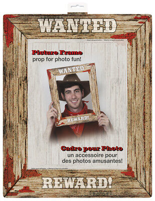 WESTERN RODEO PAPER PHOTO FRAME ~ Birthday Party Supplies Decoration Prop Booth