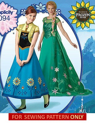 SEWING PATTERN! MAKE ELSA~ANNA FROZEN FEVER COSTUME~DRESS! ADULT~MISS SIZES 6~22 (Make Anna Costume)