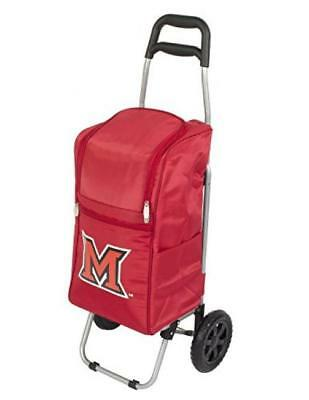 PICNIC TIME NCAA Miami Ohio Redhawks Insulated Cart Cooler w