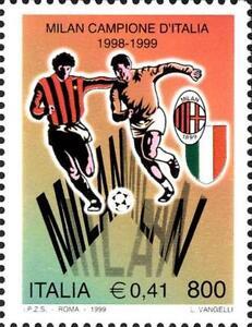 ITALIA-ITALY-1999-Milan-Winner-Calcio-Football-Soccer-Sport-Stamp-MNH