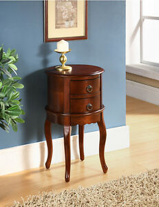 Twin Drawer Round Hall Table - DS009-M72