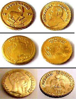 3 Medaillen, Krügerrand - Eagle - Maximilian - Neu