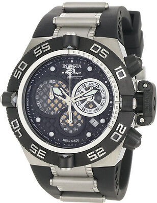 Swiss Made Invicta 0519 Subaqua Noma IV Chronograph Watch with 3-Slot Dive Case