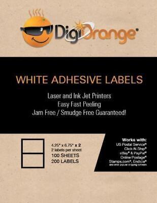 Digiorange 200 2 Per Sheet 4.25 X 6.75 Label For Stamps.com 100 Sheets