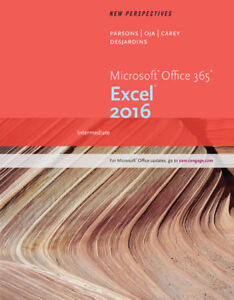 Selling New Perspectives Microsoft Office Excel 2016 Textbook