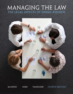 Managing The Law : the legal aspects of doing business Cambridge Kitchener Area image 1