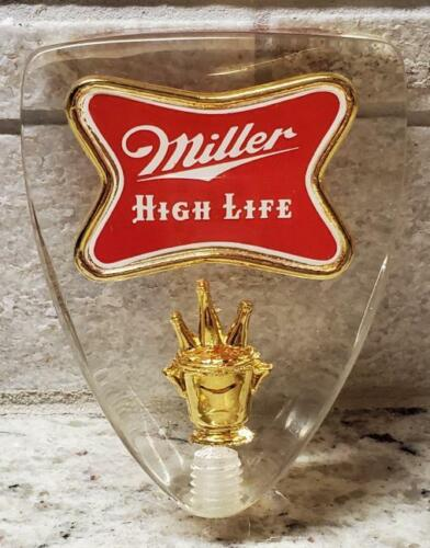 VINTAGE Miller High Life Clear Beer Tap Knob - New without box