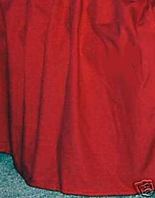 "21 "" Queen Bedskirt Or Dust Ruffle Red Split Corners"