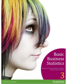 Basic Business Statistics: Concepts and Application 3E Clayton South Kingston Area Preview