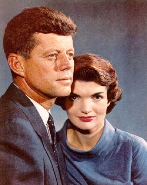 """Portrait of President John Kennedy and First Lady Jacqueline 8""""x 10"""" Photo 6"""