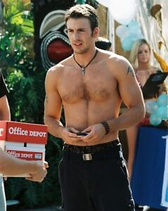 CHRIS EVANS SHIRTLESS BEEFCAKE VERY SEXY HOT RARE  8X10 8 X 10 PHOTO MPP544