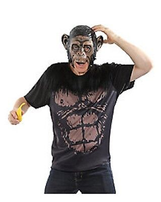 APE - MONKEY EASY GRAB & GO NO HASSLE  ADULT HALLOWEEN COSTUME MASK NEW SZ LARGE](No Hassle Halloween Costumes)