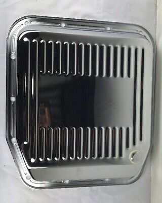 Transmission Oil Pan Stock Steel Chrome Finned Ford AOD Each Fits Ford 80-91