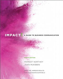 Impact: A Guide to Business Communication. University Textbook