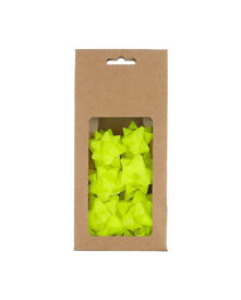 12 Pack of 12 John Lewis Neon Yellow Small Bows