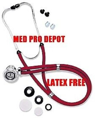 New In Box Cherry Red Sprague Rappaport Stethoscope