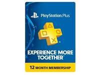 PS Plus 12 month membership