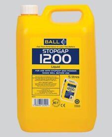 5 LITRES BALL STOPGAP 1200 FLOOR UNDERLAY LIQUID SMOOTHING LEVEL FLOORING NEW UNUSED 5L BOTTLE