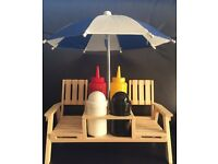 Condiment set - double beach lounger