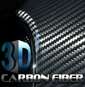 Roll-24-x-60-2ft-x-5ft-3D-CARBON-FIBER-Black-Vinyl-Film-Sheet