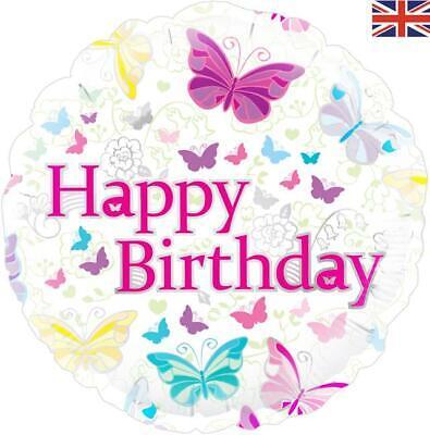 Happy Birthday Butterfly 18 Inch Foil Balloon (Happy Birthday Butterfly)