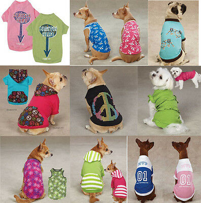 CLOSEOUT Dog Tee T-Shirt Tank Tops Pet  Casual Canine Zack Zoey -