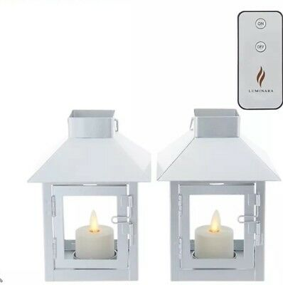 Luminara Set of 2 Mini Lanterns with Tea Lights & (2) Remotes