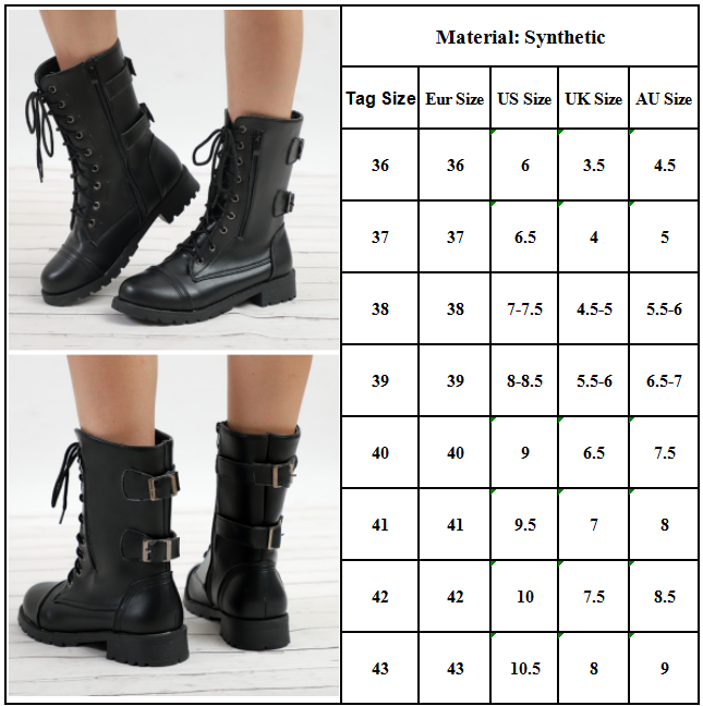 Womens Boots Buckle Booties Shoes