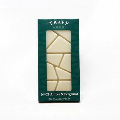 TWO Trapp Fragrances No. 21 Amber & Bergamot 2.6 oz Home Fragrance Wax Melts USA Bergamot Candle Scent