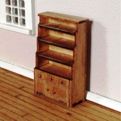 Dollhouse Miniature Quarter Scale Ptarmigan Bookcase with Chest KIT -- 1:48 for sale  Whiteland