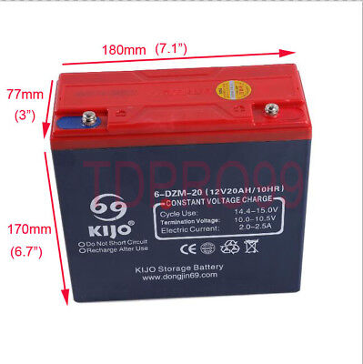 12V 20AH Sealed Lead Acid Universal Rechargeable Battery 6-DZM-20 Scooter