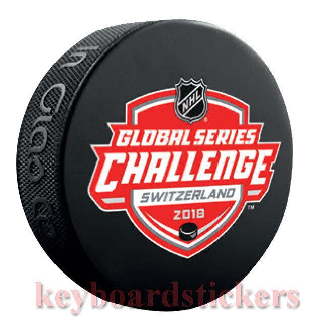 the best attitude fc13b 05a56 Details about 2018 Global Series Challenge Switzerland Souvenir Puck New  Jersey Devils SC Bern