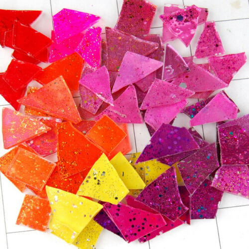 100 pieces of MIXED BRIGHTS Mosaic Art Glass Tiles by Makena Tile