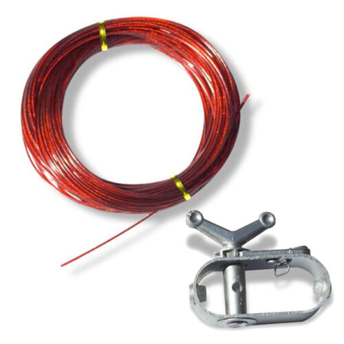 100' Cable And Winch/ratchet For Above Ground Swimming Pool Winter Covers