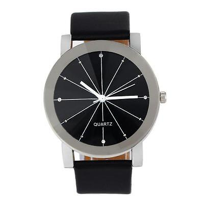 Fashion Casual Quartz Dial Men's Watches Leather Stainless Steel Wrist Watch