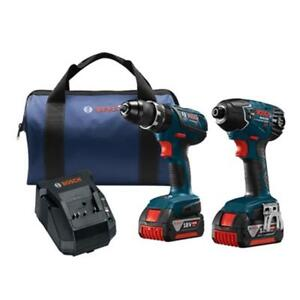 Bosch (CLPK237A-181) 18-Volt Lithium-Ion Cordless Hammer Drill/Driver and Impact Driver Combo Kit (BRAND NEW) $239.99