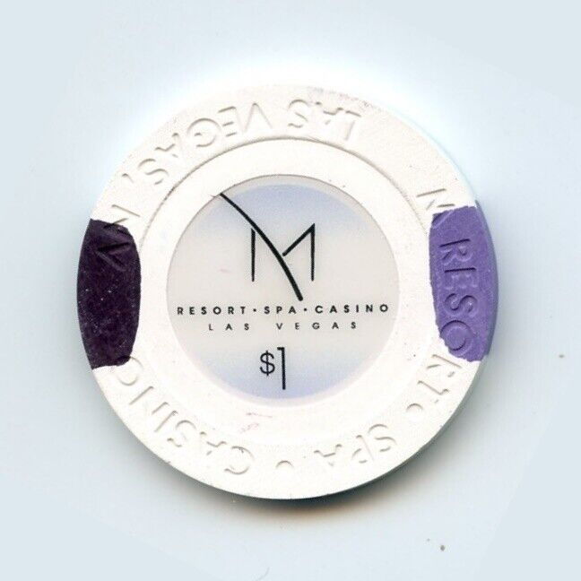 1.00 Chip from the M  Resort Casino in Las Vegas Nevada