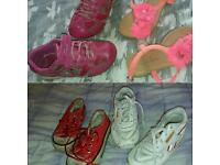 Girls shoes size 7 small Clark's flashy shoes, converse; Reebok trainers & more