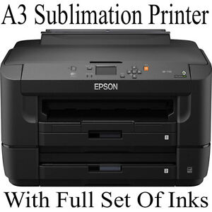 A3 EPSON PRINTER SET UP FOR DYE SUBLIMATION WITH CISS AND FULL SET OF INK BUNDLE