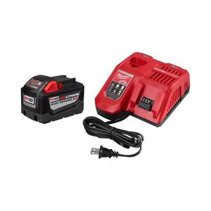Milwaukee M18 9.0 ah battery and rapid charger