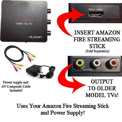 HDMI Converter for Amazon Fire Streaming Stick HDMI to Red/White/Yellow