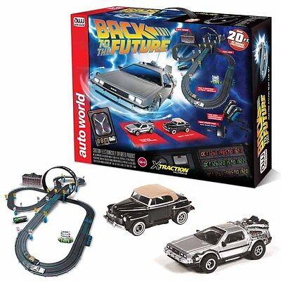Auto World 20' Back to the Future Slot Car / Track Set X-Traction Ultra-G HO